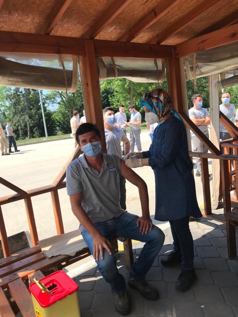Üyemiz Sarten Çalışanları Covid Aşı Oldu