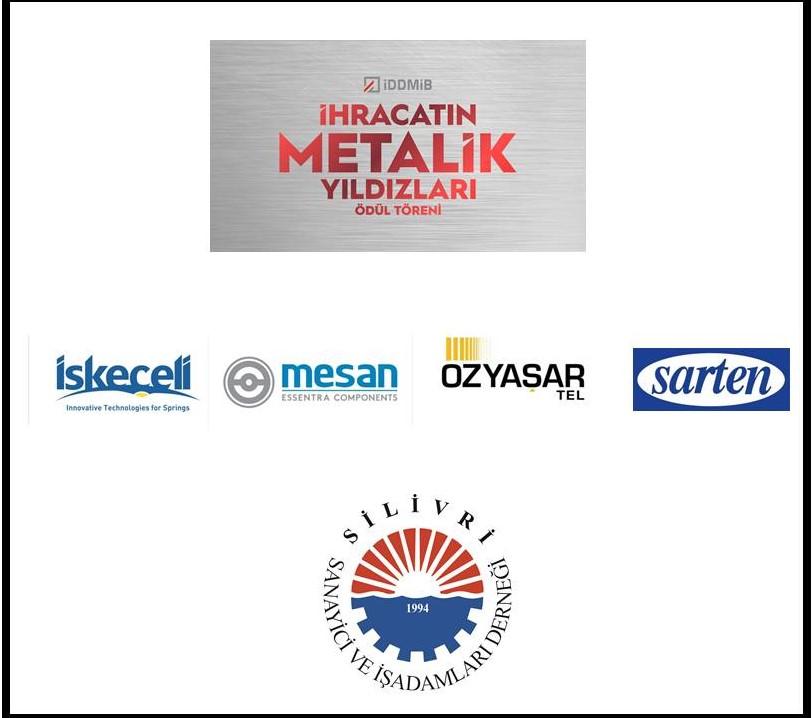 2020 İhracatın Metalik Yıldızları Ödülünü Alan Üyelerimizi Tebrik Ediyoruz.