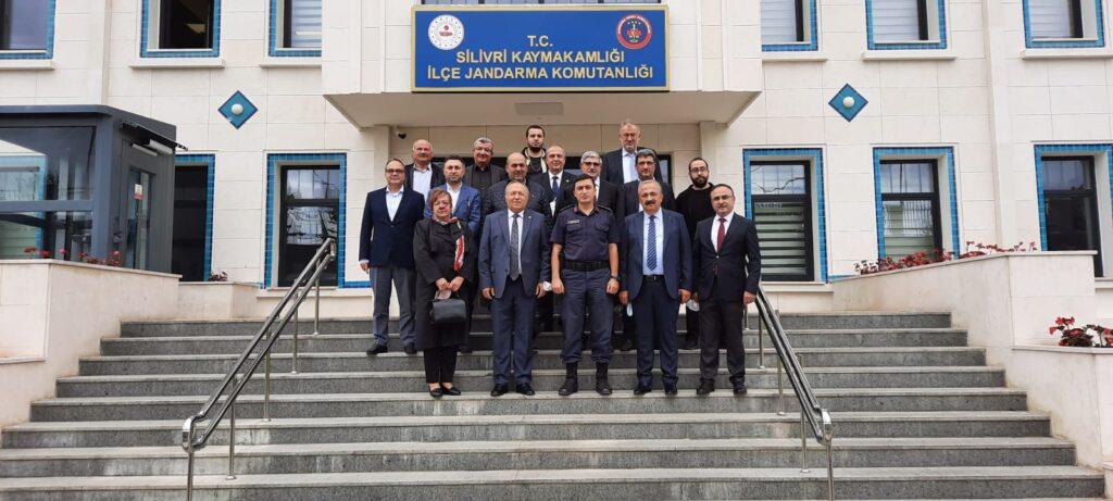 İlçe Jandarma Komutanı Yüzbaşı Telat Deniz'e hayırlı olsun ziyareti