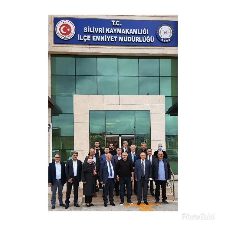 Emniyet Müdürümüz Cemil Erim'e Yeni Binalarında Hayırlı Olsun Ziyareti